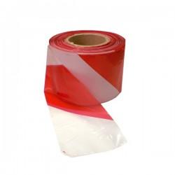 Výstražná, bezpečnostní páska bílo-červená role 200bm x 80mm