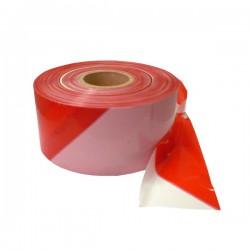 Výstražná, bezpečnostní páska bílo-červená role 500bm x 80mm