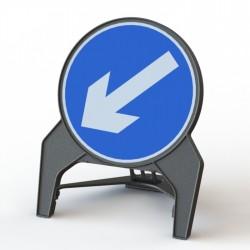 Kruhová výstražná tabule pro umístění značky