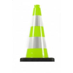 Dopravní kužel 50 cm PVC/REC zelená