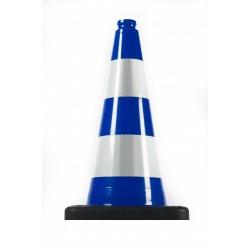 Dopravní kužel 50 cm PVC/REC modrý