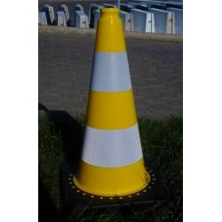 Dopravní kužel 50 cm PVC/REC žlutý