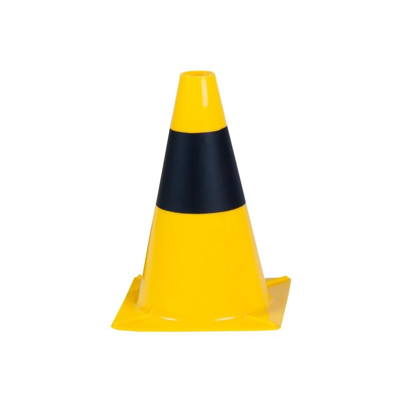 Dopravní kužel 30 cm PE HD žluto-černý