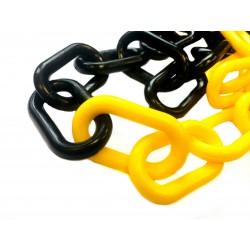 6mm žluto černý plastový řetěz