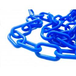 6mm plastový řetěz, modrý