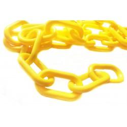 6 mm Plastový řetěz-žlutý