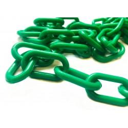 6mm plastový řetěz, zelený