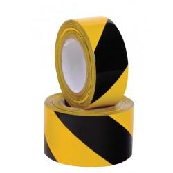 taśma ostrzegawcza żółto-czarna - rolka 100 mb x 80mm